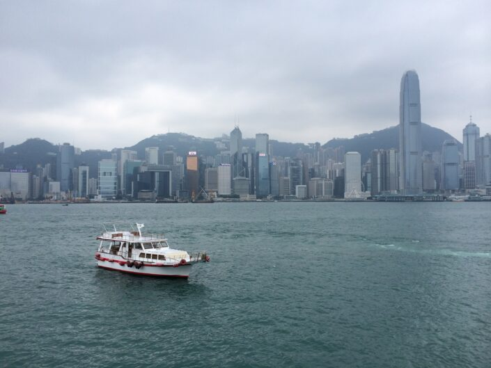 Wang Xiaoyang - The Skyline of Hong Kong Island from the view of Victoria Harbour