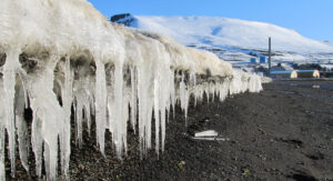 Maria Dance - Icicles on Longyearbyen beach, Svalbard